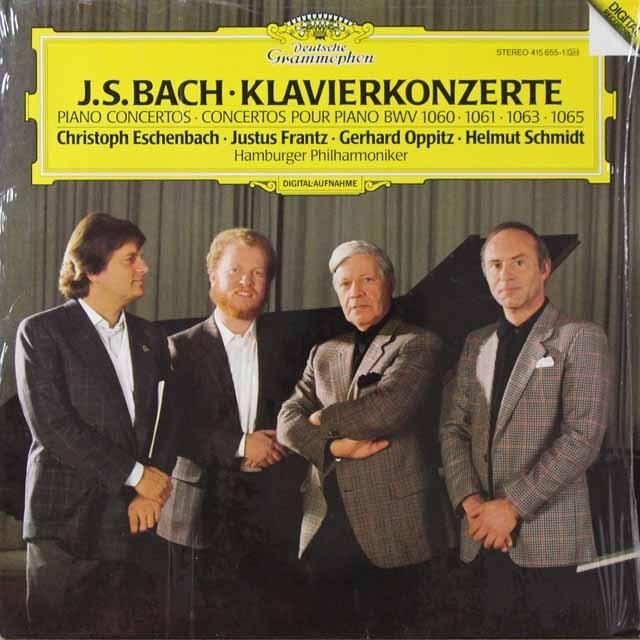 エッシェンバッハ、フランツ、オピッツ&シュミットらのバッハ/ピアノ協奏曲集 独DGG  2707 LP レコード
