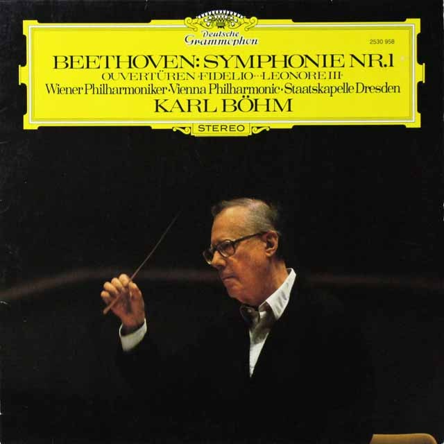 ベームのベートーヴェン/交響曲第1番ほか 独DGG  2707 LP レコード
