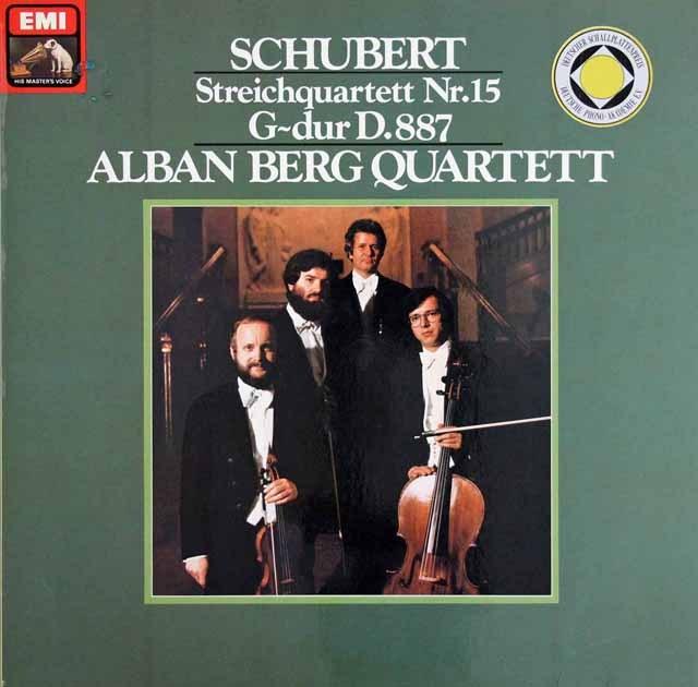 アルバン・ベルク弦楽四重奏団のシューベルト/弦楽四重奏曲第15番  独EMI  2842 LP レコード