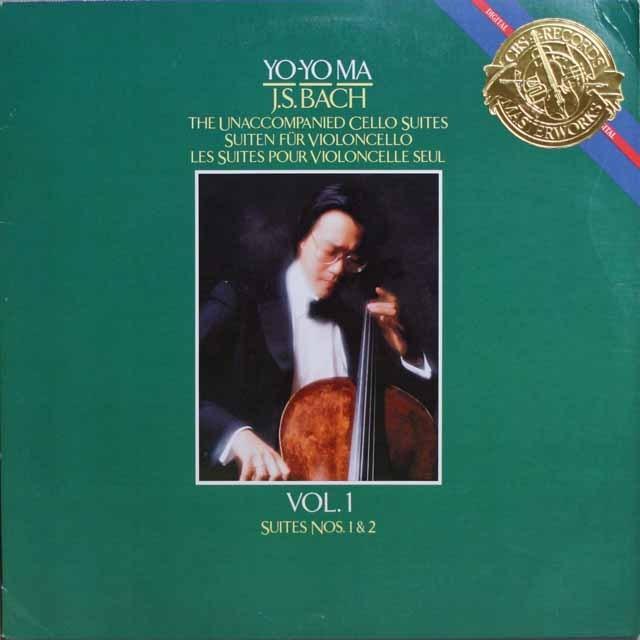 ヨーヨー・マのバッハ/無伴奏チェロ組曲第1&2番  独CBS  2639 LP レコード