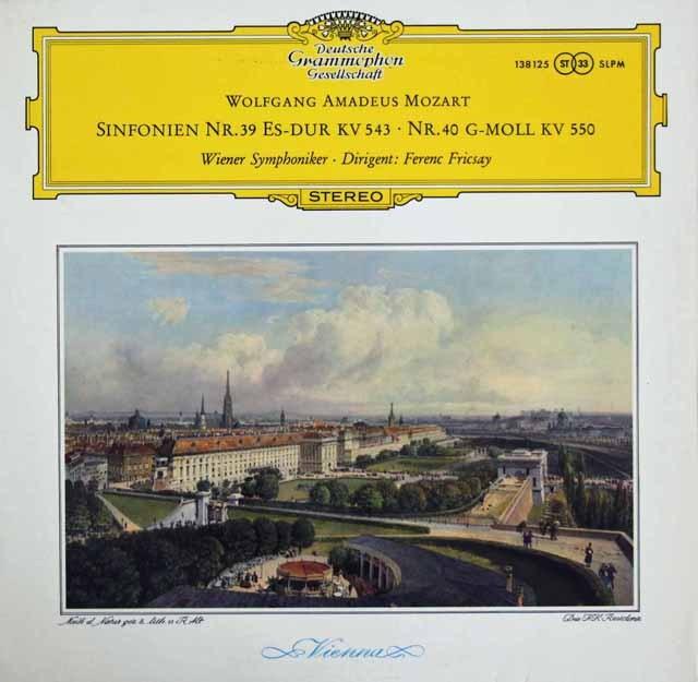 フリッチャイのモーツァルト/交響曲第39&40番 独DGG 3294 LP レコード
