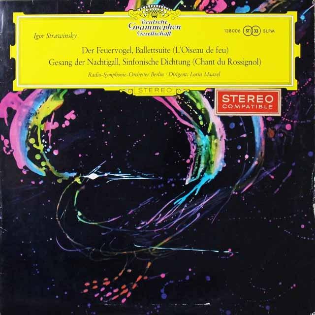 【細字ステレオ/独最初期盤】 マゼールのストラヴィンスキー/組曲「火の鳥」ほか 独DGG 3292 LP レコード