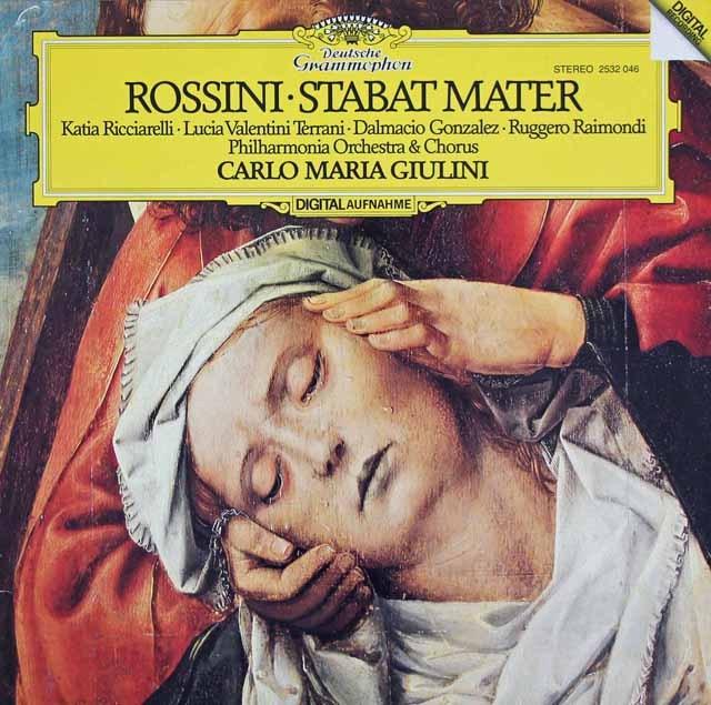 ジュリーニのロッシーニ/「スターバト・マーテル」 独DGG 3294 LP レコード