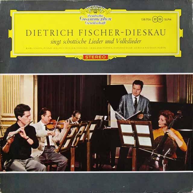 【赤ステレオ/独最初期盤】 フィッシャー=ディースカウのスコットランドの歌と民謡集 独DGG  3292 LP レコード