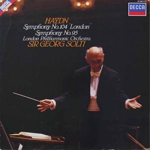 ショルティのハイドン/交響曲第104番「ロンドン」&第95番  蘭DECCA  2639 LP レコード