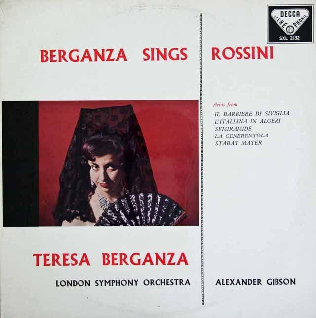 【オリジナル盤】 ベルガンサ、ロッシーニを歌う 英DECCA 2842 LP レコード