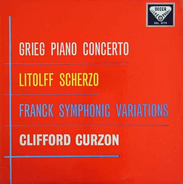 カーゾンのグリーグ/ピアノ協奏曲ほか 英DECCA 3294 LP レコード