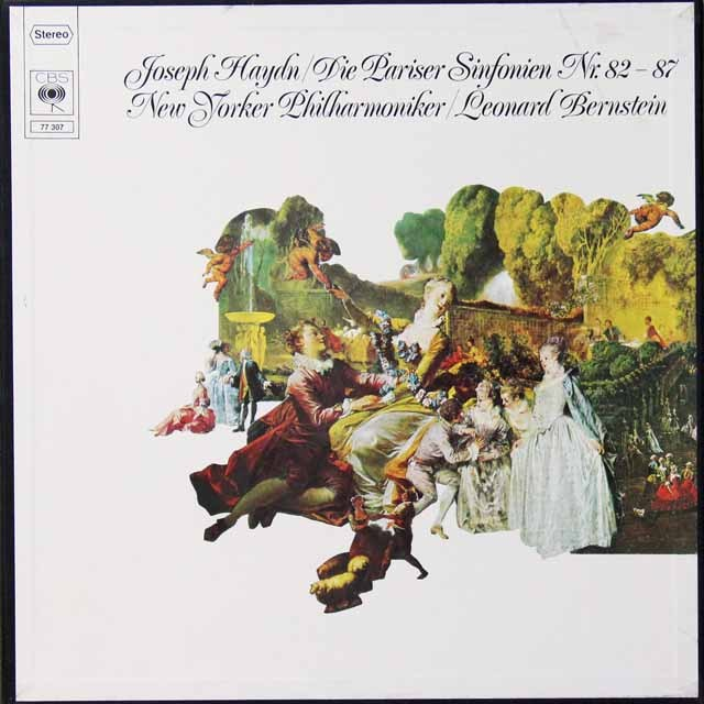 バーンスタインのハイドン/「パリ交響曲」全集 独CBS  2707 LP レコード