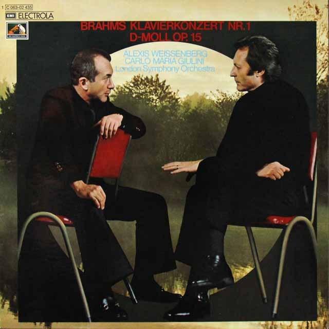 ワイセンベルク&ジュリーニのブラームス/ピアノ協奏曲第1番 独EMI 3292 LP レコード