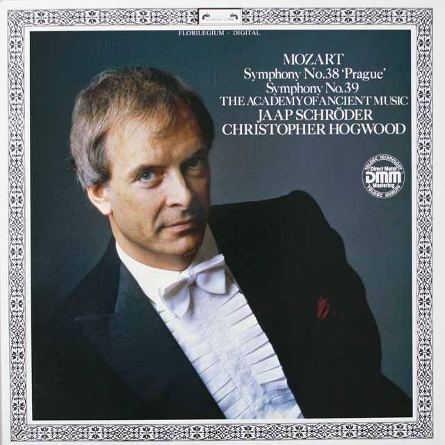 ホグウッドのモーツァルト/交響曲第38番「プラハ」&第39番  独DECCA  2639 LP レコード