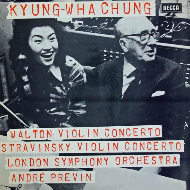 【オリジナル盤】チョン&プレヴィンのストラヴィンスキー&ウォルトン/ヴァイオリン協奏曲集 英DECCA 2842 LP レコード