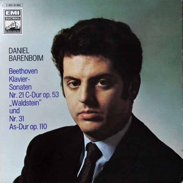 バレンボイムのベートーヴェン/ピアノソナタ第21番「ワルトシュタイン」&第31番 独EMI 3292 LP レコード