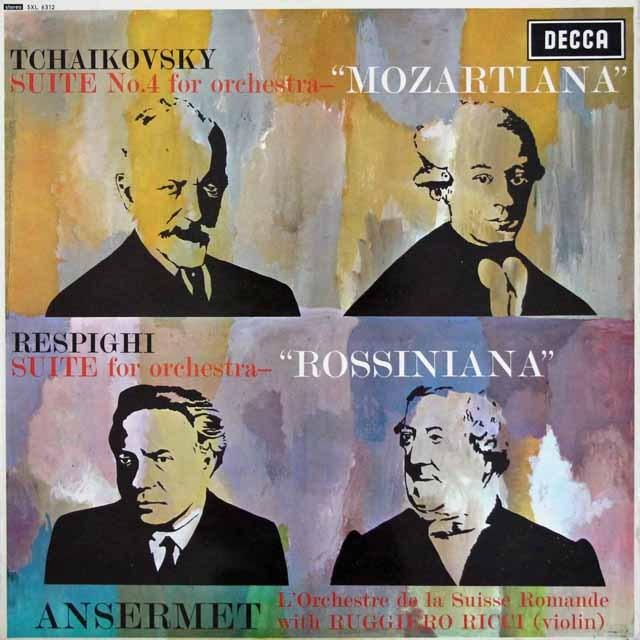 リッチ&アンセルメのチャイコフスキー/組曲第4番「モーツァルティアーナ」ほか 英DECCA 3294 LP レコード