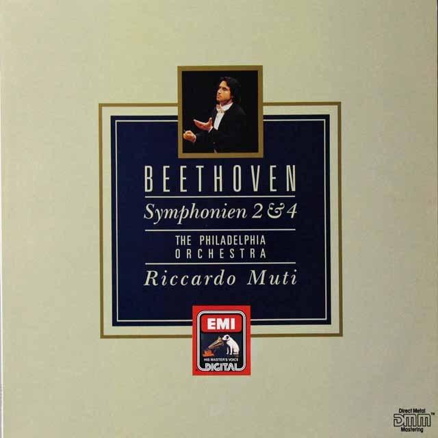 ムーティのベートーヴェン/交響曲第2&4番 独EMI  3292 LP レコード