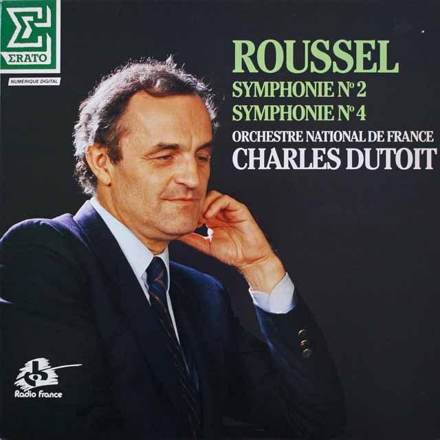 デュトワのルーセル/交響曲第2&4番  仏ERATO  2641 LP レコード