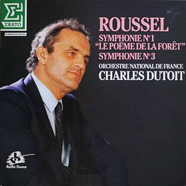 デュトワのルーセル/交響曲第1番「森の詩」&第3番  仏ERATO  2641 LP レコード