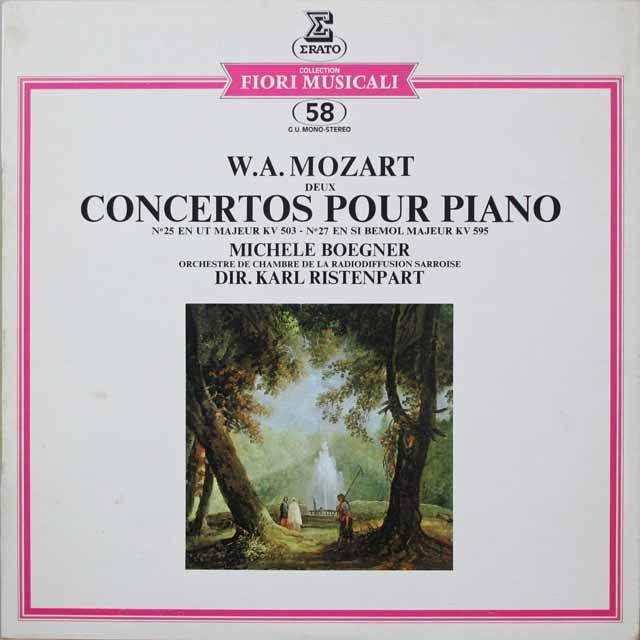 ベグネール&リステンパルトのモーツァルト/ピアノ協奏曲第25&27番  仏ERATO  2641 LP レコード