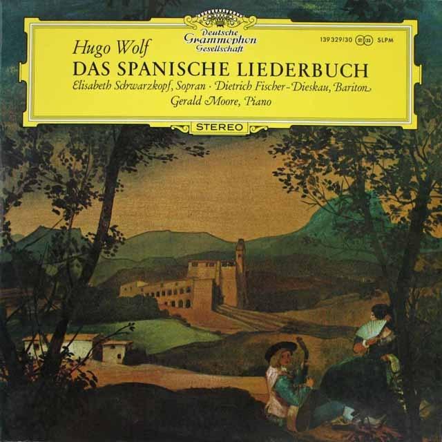 シュヴァルツコップ&フィッシャー=ディースカウのヴォルフ/スペイン歌曲集 独DGG 3231 LP レコード