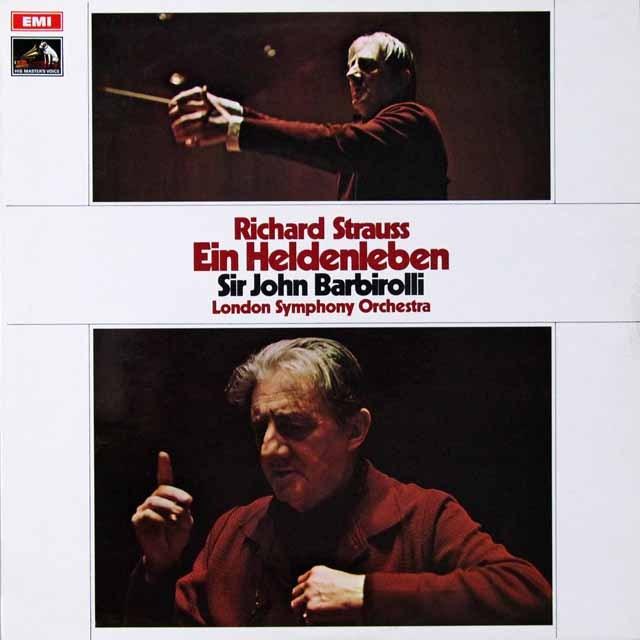 バルビローリのR.シュトラウス/「英雄の生涯」 英EMI  2708 LP レコード
