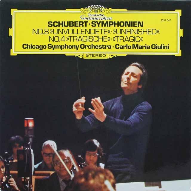 ジュリーニのシューベルト/交響曲第4番「悲劇的」&8番「未完成」 独DGG 3231 LP レコード