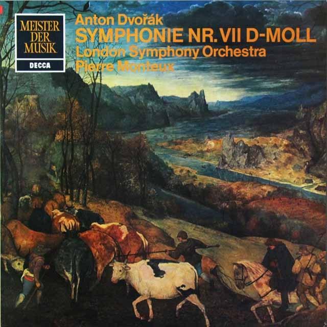 モントゥーのドヴォルザーク/交響曲第7番 独DECCA 3292 LP レコード