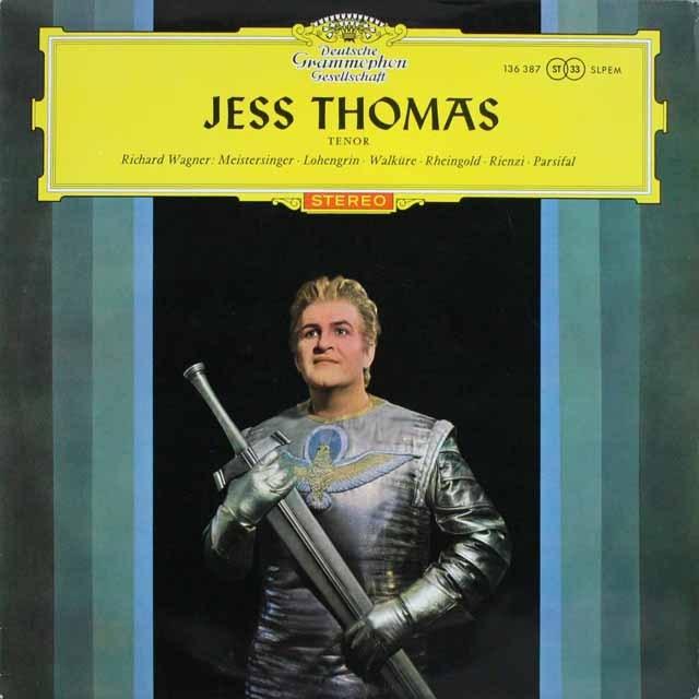 【赤ステレオ/独最初期盤】 ジェス・トーマスのワーグナー/アリア集 独DGG 3231 LP レコード