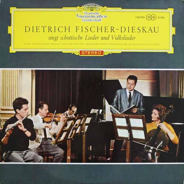 【赤ステレオ/独最初期盤】 フィッシャー=ディースカウのハイドン、ベートーヴェン&ウェーバー/スコットランドの歌と民謡 独DGG 3231 LP レコード