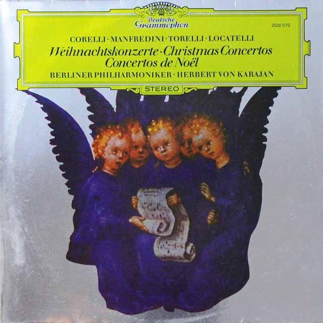 カラヤンのクリスマス協奏曲集 独DGG 3292 LP レコード