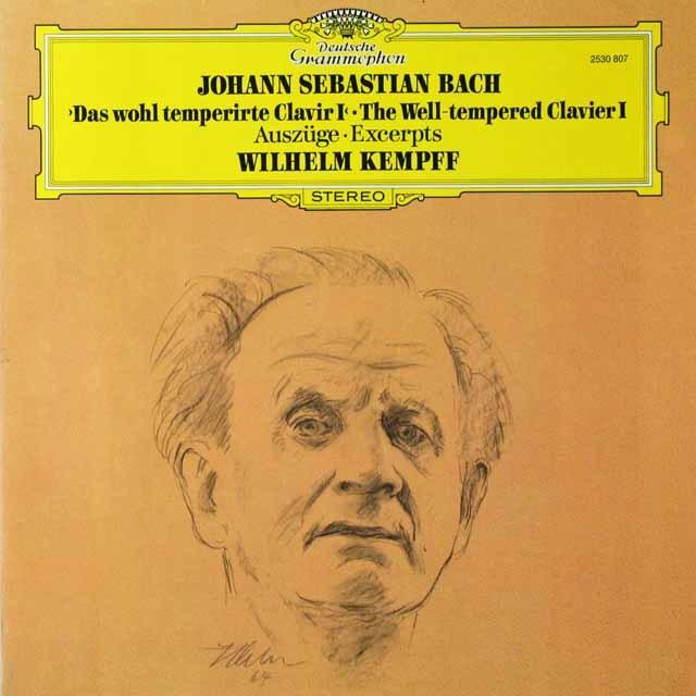 ケンプのバッハ/平均律クラヴィーア曲集第1巻 独DGG 3292 LP レコード