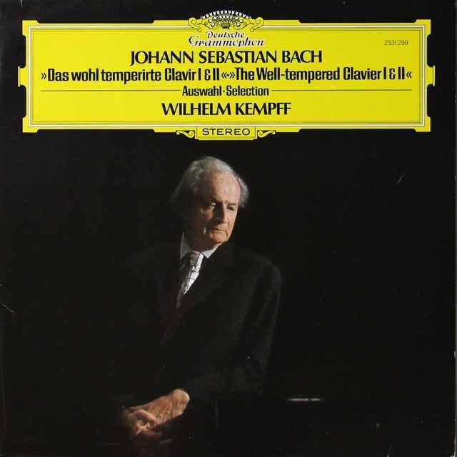 ケンプのバッハ/平均律クラヴィーア曲集第1&2巻より 独DGG 3292 LP レコード