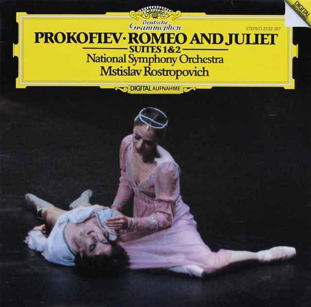 ロストロポーヴィチのプロコフィエフ/「ロメオとジュリエット」第1&2組曲 独DGG 3283 LP レコード