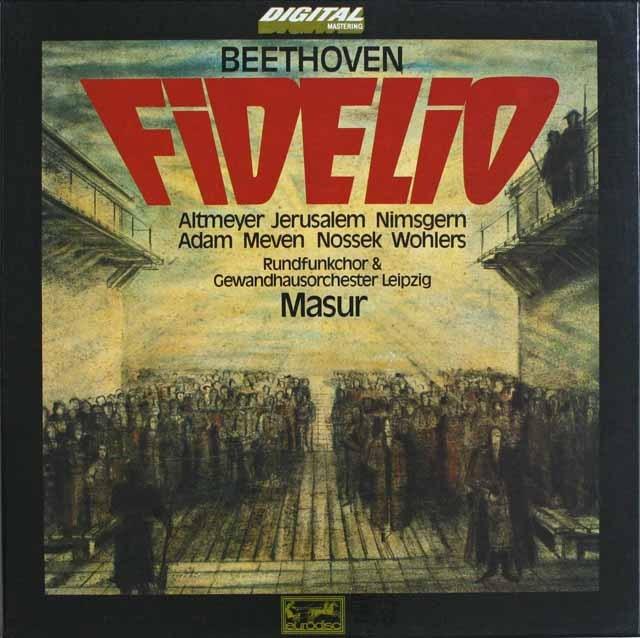 【マズアほかの直筆サイン入り】 マズアのベートーヴェン/「フィデリオ」 独EURODISC 3229 LP レコード
