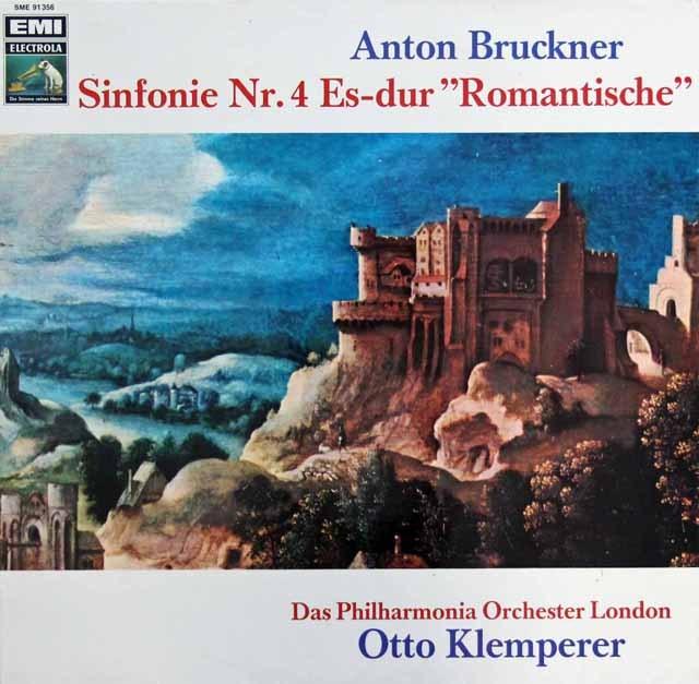 クレンペラーのブルックナー/交響曲第4番「ロマンティック」 独EMI 3283 LP レコード
