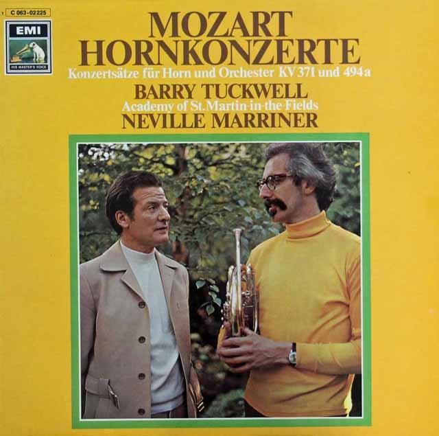 タックウェル&マリナーのモーツァルト/ホルン協奏曲集 独EMI 3283 LP レコード