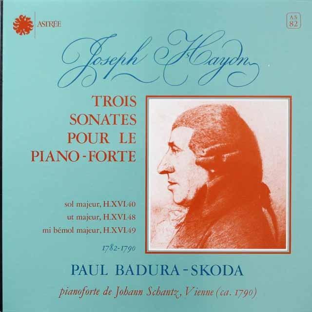 スコダのハイドン/ピアノソナタ第48&49番  仏ASTREE  2642 LP レコード