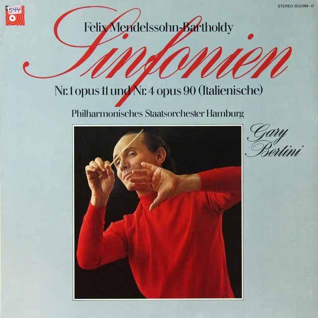 ベルティーニのメンデルスゾーン/交響曲第1&4番「イタリア」 独BASF 3292 LP レコード