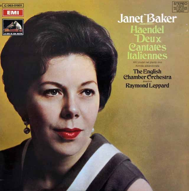 ベイカーのヘンデル/イタリアン・カンタータ集 仏EMI 3294 LPレコード