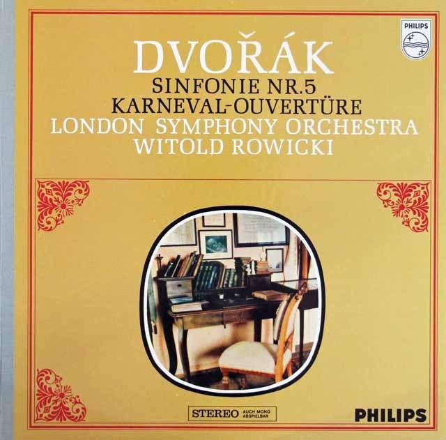 ロヴィツキのドヴォルザーク/交響曲第5番&「謝肉祭」序曲 蘭PHILIPS  3283 LP レコード