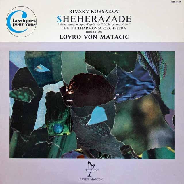 マタチッチのリムスキー=コルサコフ/「シェヘラザード」 仏TRIANON 3294 LP レコード