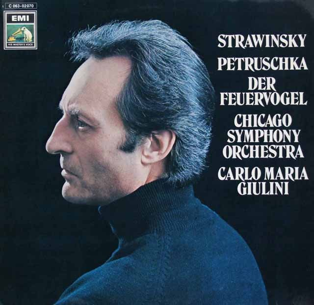 ジュリーニのストラヴィンスキー/「火の鳥」&「ペトルーシュカ」 独EMI 3294 LP レコード