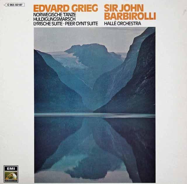 バルビローリのグリーグ/4つのノルウェー舞曲ほか  独EMI  3294 LP レコード