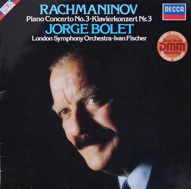 ボレットのラフマニノフ/ピアノ協奏曲第3番  独DECCA  3283 LP レコード