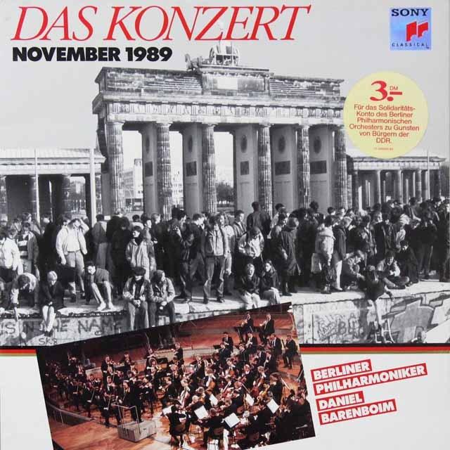 バレンボイムのベルリンの壁解放コンサート 蘭CBS 3223 LP レコード