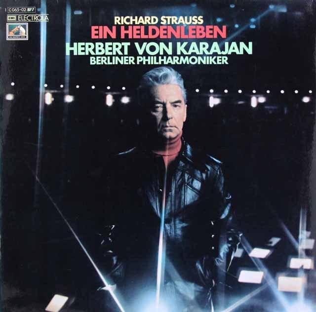カラヤンのR.シュトラウス/英雄の生涯 独EMI    2844 LP レコード