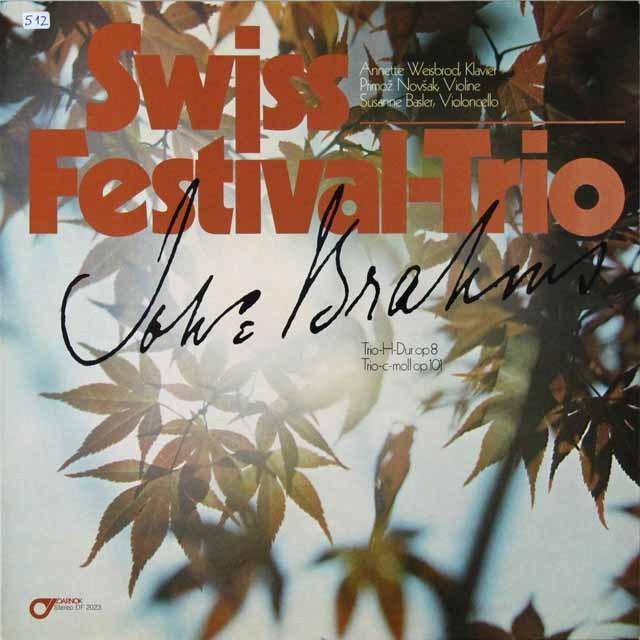 スイス・フェスティヴァル・トリオのブラームス/ピアノ三重奏曲第1&3番 独DARNOK 3223 LP レコード