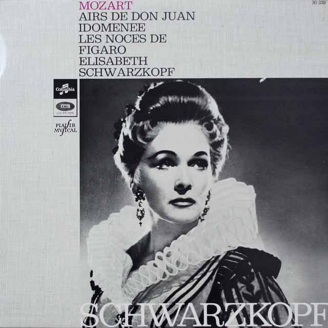 シュヴァルツコップのモーツァルト/アリア集  仏Columbia  2642 LP レコード