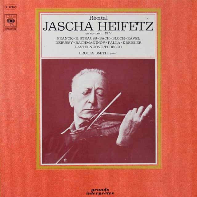 ハイフェッツ・リサイタル 1972 独CBS  2714 LP レコード