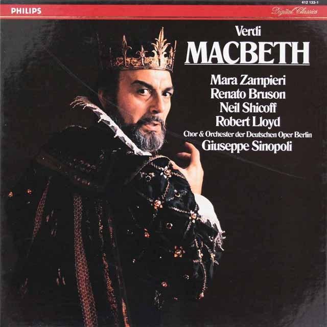 【直筆サイン入り】 シノーポリのヴェルディ/「マクベス」全曲 蘭PHILIPS 3294 LP レコード
