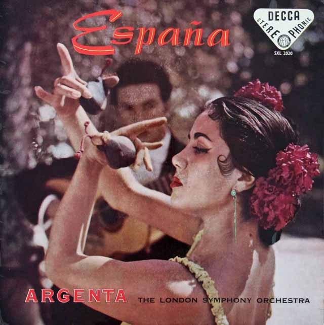 【オリジナル盤】 アルヘンタの「スペイン!」 英DECCA 3283 LP レコード