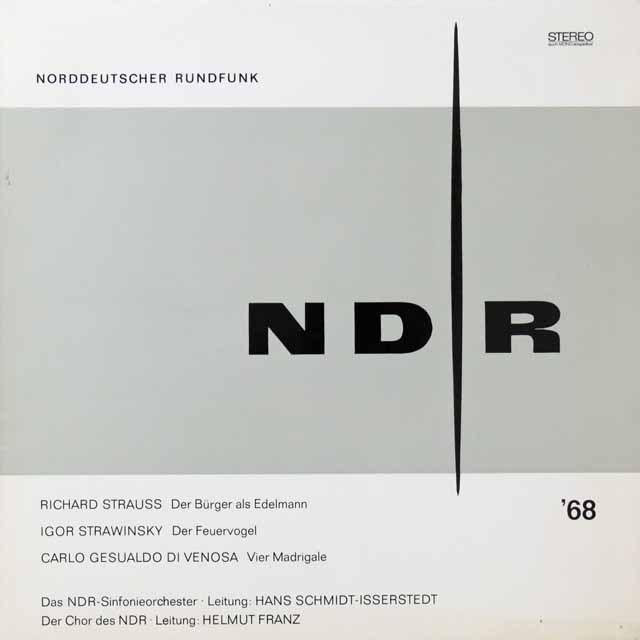 イッセルシュテットのR.シュトラウス/町人貴族ほか 独NDR  2714 LP レコード